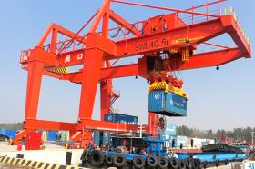 40.5t RMG Container Crane for Zhoukou Port