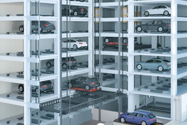 Automated Parking Garage with Lift Robot